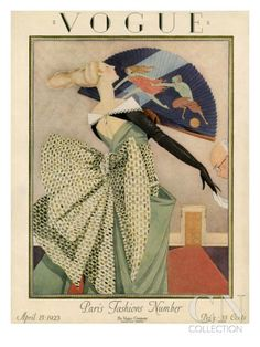 Vogue Cover - April 1923 Poster Print by George Wolfe Plank at the Condé Nast Collection