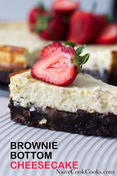 One of the simplest yet fanciest looking cheesecake recipe. Brownie Bottom cheesecake with a layer of brownie topped with a creamy cheesecake layer. Chocolate Pack, Chocolate Recipes, Chocolate Lovers, Easy No Bake Desserts, Delicious Desserts, Yummy Treats, Full Fat Yogurt, Brownie Toppings, Trifle Pudding