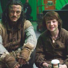 Hobbit. Bard & Bain on set.