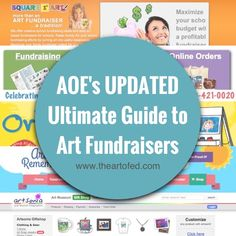 Tons of info about artistic fundraising options for schools all in one place!