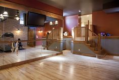 Dance Studio Design, Decor and Ideas  would LOVE a dance studio/work out room in my house. This is a must!!!