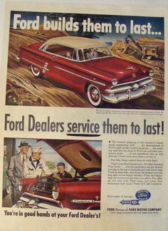 Vintage Ad Ford Builds Them To Last...Ford by 9MilesOfWonder