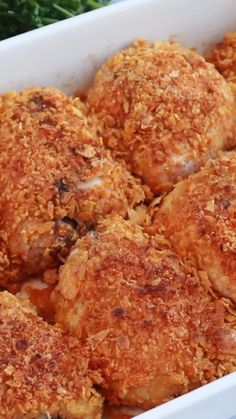 Oven Fried Chicken, Fried Chicken Recipes, Cornflake Chicken Recipe, Healthy Chicken Dinner, Chicken Ideas, Fries In The Oven, Oven Baked, Utensils, Healthy Eating