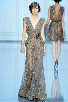 Elie Saab Fall 2011 Couture Fashion Show - Caroline Brasch Nielsen (Elite)
