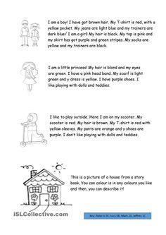 DESCRIBING PEOPLE WORKSHEET #   English Step By Step - 3rd Graders ...