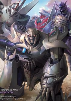 """Transformers Prime - Decepticons. How congenial they all seem. What could I possibly have that they want...?  """"Megatron, this plan is preposterous! It will never work...""""  """"Quiet Starscream! Just a few more clicks and we'll be overflowing with rich, All Spark-infused, energon-y goodness!""""  """"...Did you really just say 'energon-y goodness'?"""""""