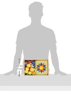 Купить Melissa & Doug Pattern Blocks and Boards - Classic Toy With 120 Solid Wood Shapes and 5 Double-Sided Panels на Amazon по выгодной цене с доставкой из США