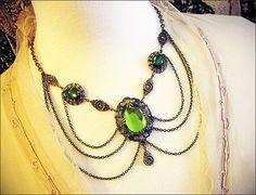 Renaissance Necklace Medieval Jewelry SCA by RabbitwoodandReason, $74.00