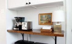 Kitchen Progress: Butcher Block Shelf – Project Palermo Ikea Corner Desk, Ikea Cart, Palermo, Shelves, Cabinet, Kitchen, Projects, Furniture, Home Decor