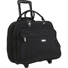 "#Luggage, #LuggageTotesAndSatchels - baggallini Rolling Tote Bagg 17"" Crinkle Nylon"