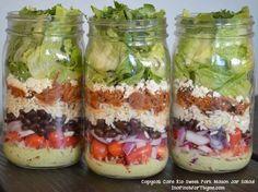 Cafe Rio Copycat Sweet Pork Mason Jar Salad More