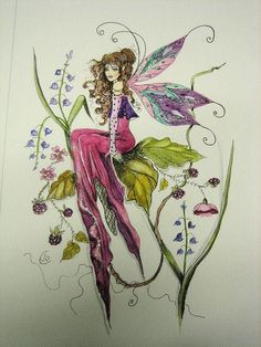Spring Fairy by on DeviantArt Fairy Drawings, Spring Fairy, Fairy Tattoo Designs, Beautiful Fairies, Flower Fairies, Fairy Art, Fairy Dolls, Faeries, Fantasy Art