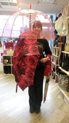 Hannah has the perfect for with this red umbrella for long walks in the rain! Valentine Day Gifts, Valentines, Walking In The Rain, Red And Pink, Walks, Red Roses, Lady, Ideas, Fashion