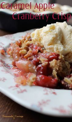 Caramel Apple Cranberry Crisp