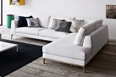Time Sectional Sofa V2 with Right Arm Facing Peninsula by Pianca