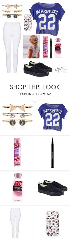 """""""Untitled #166"""" by fadedlipstick on Polyvore featuring Accessorize, !M?ERFECT, Urban Decay, Vans and Topshop"""