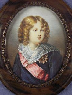 Fine Antique Portrait Miniature Painting Roi de Rome Napoleon II Artist Signed | eBay