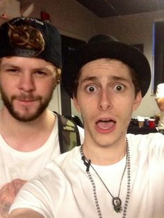 Jay from The Wanted & Eric from Midnight Red