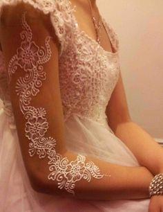 White wedding henna