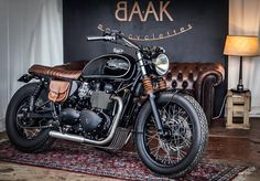 """388 Likes, 16 Comments - BAAK Motocyclettes (@baakmotocyclettes) on Instagram: """"Our #Triumph #Bonneville Dandy Bonnie at the #CafeRacer Festival - Picture by…"""""""