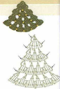 beautiful, beautiful, christmas center in crochet. View and share - Crochet Designs Free Crochet Christmas Decorations, Crochet Christmas Ornaments, Crochet Decoration, Christmas Crochet Patterns, Holiday Crochet, Crochet Diagram, Crochet Chart, Crochet Motif, Crochet Designs