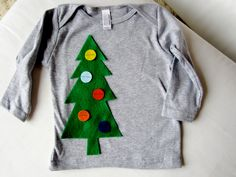 Oh Christmas Tree. GREEN TREE. Holiday T shirt. YOU pick tee color. All sizes. Great Christmas top for kids boys girls babies. $20.00, via Etsy.