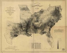Percentage of Slaves by U.S. County, 1860. The Map That Lincoln Used to See the Reach of Slavery
