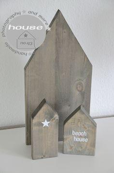 Holzhäuser mit Treibholzeffekt / driftwwood houses