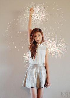 Shop this look on Kaleidoscope (skirt, blouse)  http://kalei.do/WYdlx7QAm1EmglPG