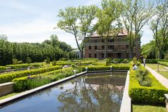 Tuscan Style Garden At Snug Harbor Botanical Garden, Staten Island, New York