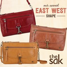 40e08c721bb65c Our newest East West shape can be worn 3 ways- as a crossbody using the