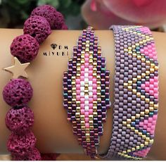 Peyote Stitch Patterns, Diy Crafts Hacks, Bead Loom Bracelets, Brick Stitch, Loom Beading, Bead Weaving, Jewelery, Jewelry Accessories, Handmade Jewelry