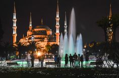 The Nocturnal Charm of the Blue Mosque
