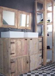 ... badkamermeubel op maat  design badkamer steigerhout  de Steigeraar