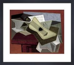Guitar and Newspaper, 1925 Art Print by Juan Gris - WorldGallery.co.uk