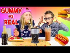 GUMMY vs REAL Smoothie Challenge - YouTube