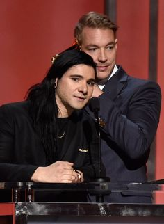 Skrillex and Diplo accept the GRAMMY for Best Dance Recording at the 58th Annual GRAMMY Awards Premiere Ceremony on Feb. 15 in Los Angeles