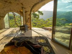 Located west of Sydney in the Blue Mountains, this cave dwelling  is actually quite luxurious. You won't get better views of the national park from the floor to ceiling windows and can organize with the host to have dinner served in the cave or a masseuse stop by during your stay. From $884/night