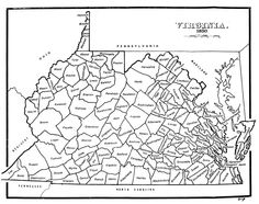 """Map of Virginia from 1850, 13 years before the """"Rogue 55 Counties"""" seceded from the tyrannical and treasonous government in Richmond to form the new state of West Virginia."""
