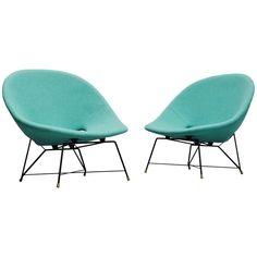 Augusto Bozzi Cosmos Lounge Chairs Saporiti Italia, 1954 | 1stdibs.com