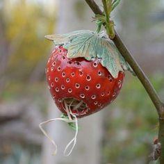 Erdbeere Keramik Nützlingshaus