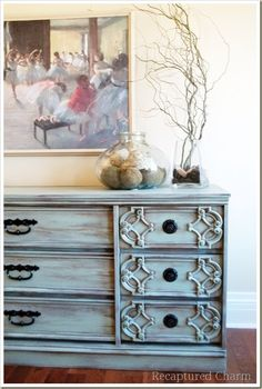 turquoise dresser /painted furniture diy color valspar favorite jade no primer, just long dry strokes so pretty