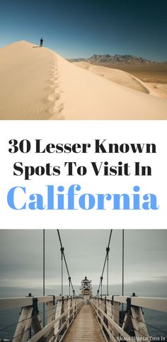 Visiting the Golden State soon? Here's a list of lesser known sights around California, including massive sand dunes and a forest filled with mini trees | california things to do | california travel