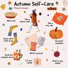 Start your autumn with positive vibes with the Journey app, your Daily Self-Care Journal. Herbst Bucket List, Autumn Bucket List, Autumn Cozy, Autumn Aesthetic, Self Care Activities, Happy Fall Y'all, Autumn Activities, Hello Autumn, Autumn Inspiration