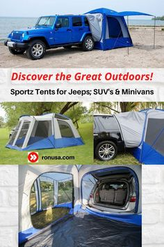 Discover the Great Outdoors with our Sportz Camping Tents for Vehicles. #camping #tents