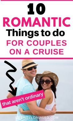 If you're planning a romantic cruise for your anniversary or any other special occasion, you'll love this list of things for couples to do on a cruise. Beyond the ordinary, these romantic ideas will be awesome on your cruise vacation! #cruise #cruisevacation #cruising #couplescruise Cruise Tips, Cruise Travel, Cruise Vacation, Cruise Ship Reviews, Best Cruise Ships, Romantic Things To Do, Romantic Ideas, Carnival Cruise Ships, Cruise Destinations