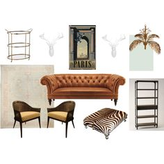 great masculine and feminine mixture. Perfect for a home library/family room Interior Design Kitchen, Interior Modern, Kitchen Designs, Elements Of Style, Display Shelves, Living Spaces, Living Rooms, Home Goods, Family Room