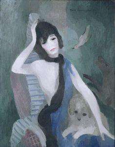 Marie Laurencin, Portrait of Mademoiselle Chanel 1923, Oil on Canvas, MAM ville de Paris