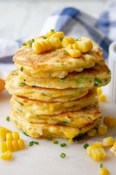 These Sweet Corn Fritters Are Crisp And Golden On The Outside, And Warm And Soft On The Inside. They Taste Like Delicious Balls Of Cornbread Heaven! . Corn Fritter Recipes, Corn Recipes, Lunch Recipes, Great Recipes, Sweet Corn Fritters, Pea Fritters, Corned Beef Fritters, Best Corn Recipe, Cooking Sweet Corn