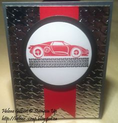 Stampin up ! cars, carte masculine, men's card